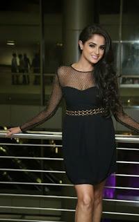 Asmitha Sood Looks Beautiful in Black Transparent Short Dress at Pink Affair Fashion Show