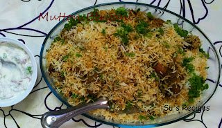 Mutton Biryani, non veg biryani, layering rice