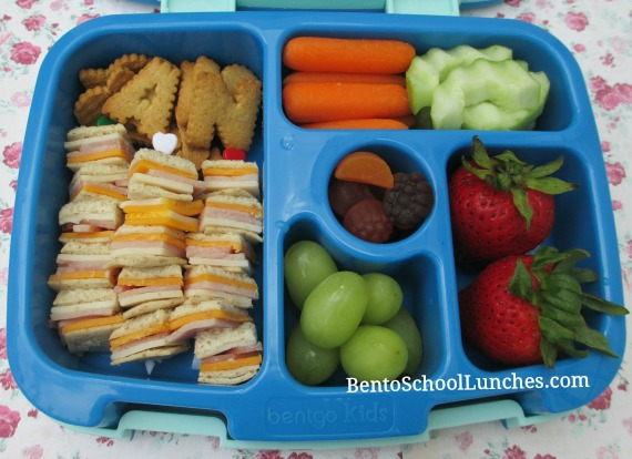 Kebabs, bento school lunches, school lunch