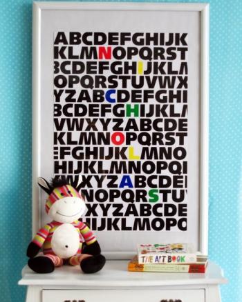 Lamina abecedario made by girl