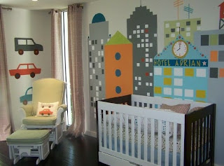 dormitorio de bebe colorido