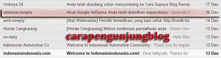 Surat Cinta Pertama Dari Google AdSense