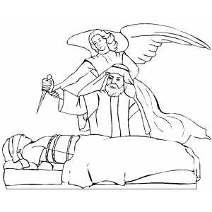 Dibujo De Abraham E Isaac Para Colorear Dibujos