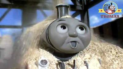 Tiny Thomas the train engine Diesel does it again old saddle tank Thomas hopper yellow brick dust