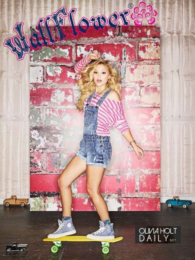 Olivia Holt poses for the 2014 Wallflower Jeans Campaign