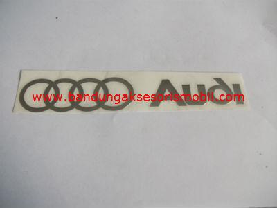Emblem Alumunium 3M Besar Chrome Audi
