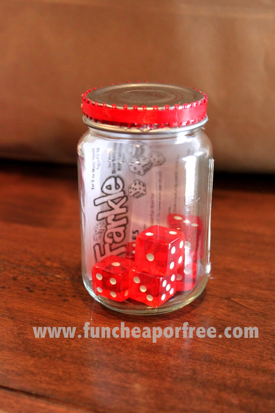 Neighbor Gift Ideas + DIY Travel Farkle Game - Fun Cheap or Free