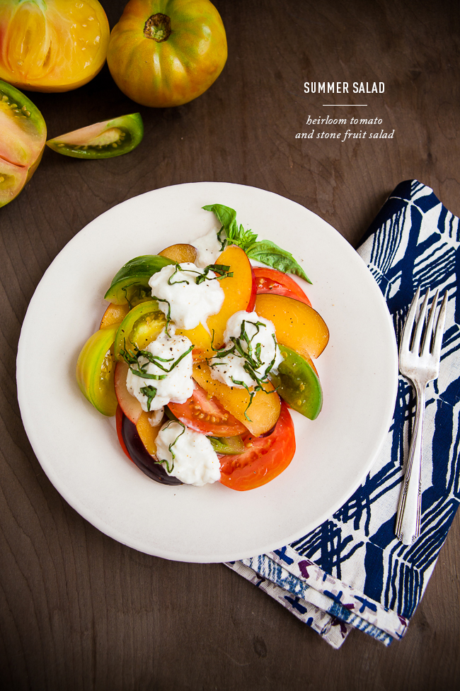 Heirloom Tomato and Stone Fruit Salad + A chance to win $50 to Whole Foods Market