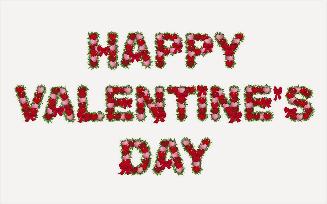 happy valentine day HD red and green wallpaper 2014