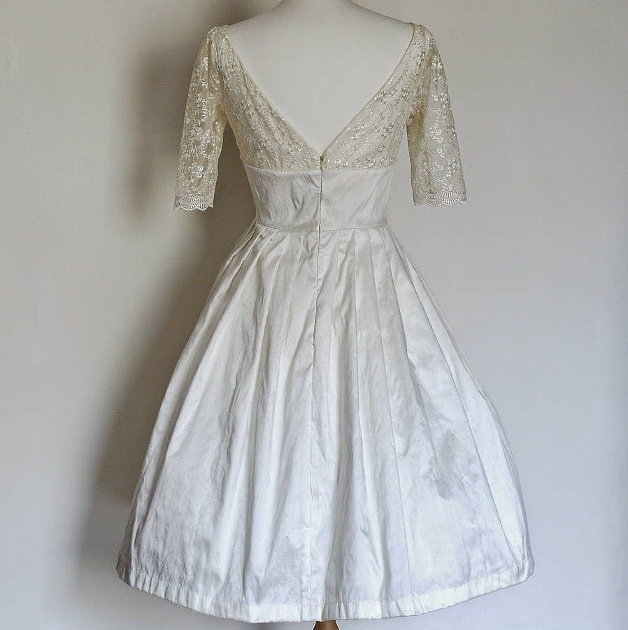 Dig For Victory Fifties Wedding Dress - Affordable 1950s Wedding Dresses