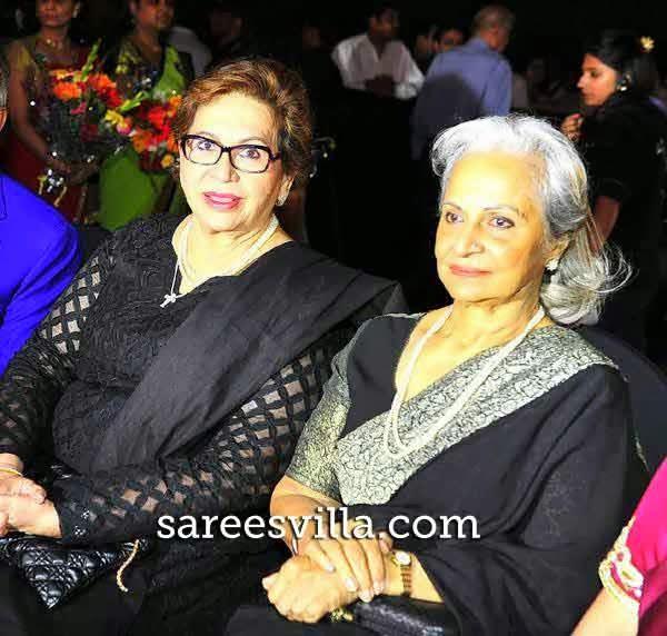 Helen with Waheeda Rehman