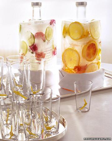 decoração de garrafa com frutas