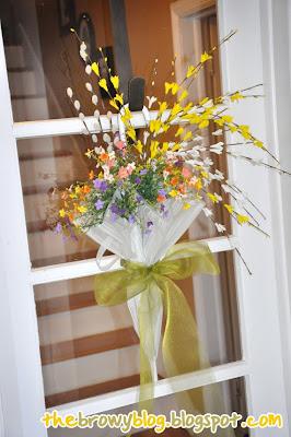 The Browy Blog Spring Umbrella Wreath
