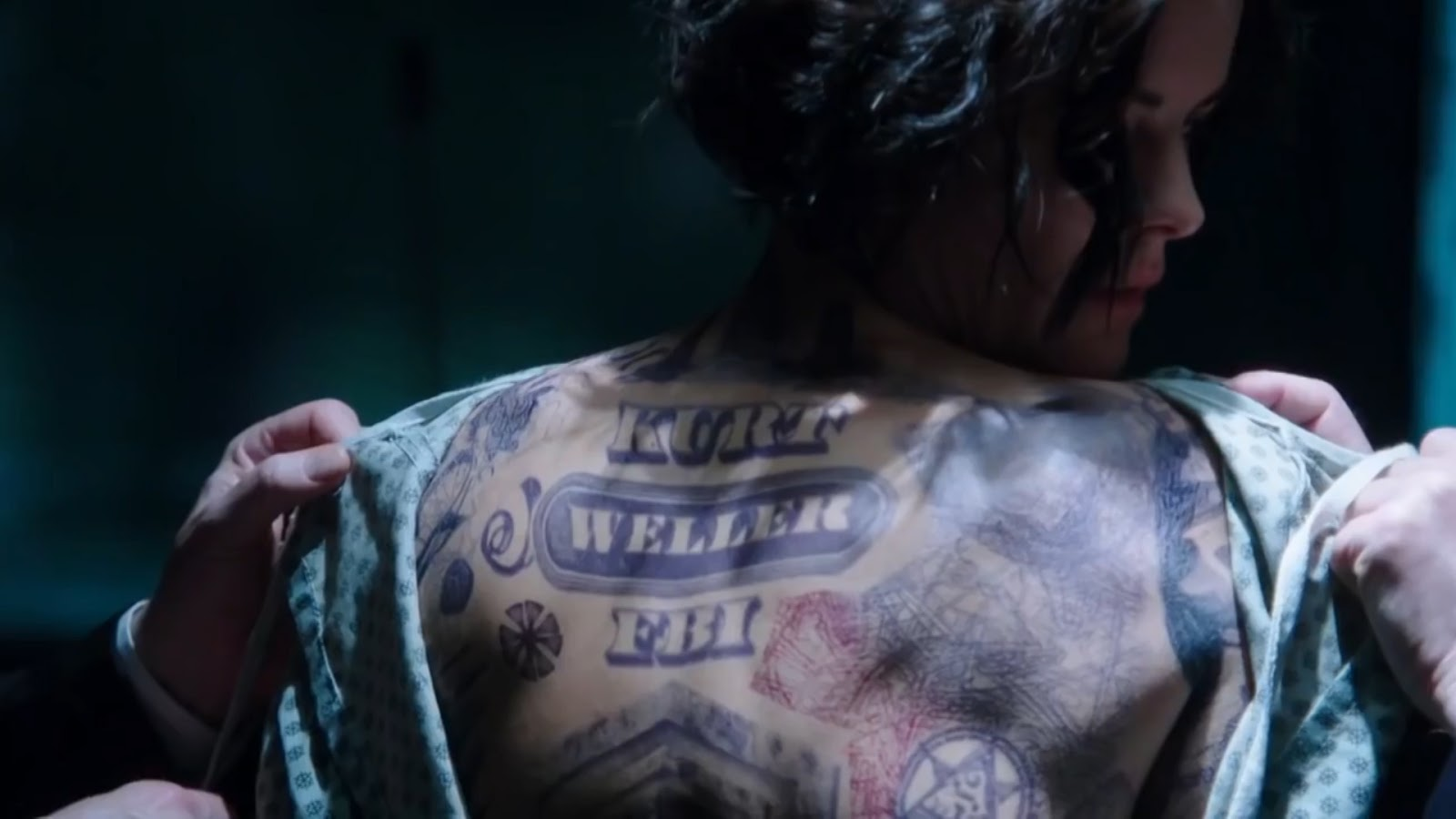Tv review blindspot premiere week for Tv show with tattooed woman