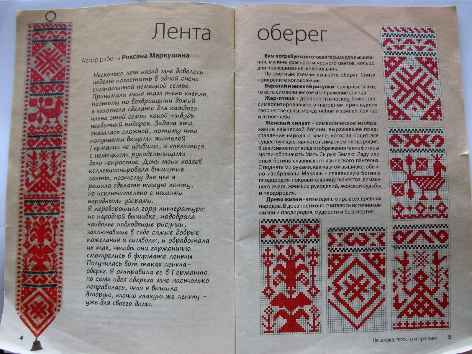 Славянские имена в вышивке