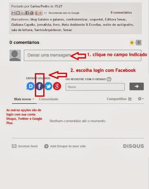 imagem 1 - tutorial - aprenda a usar o Disqus com o Facebook