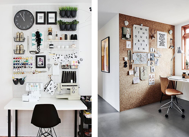 command center wall, organization wall, hacks, cork board wall, pinterest office