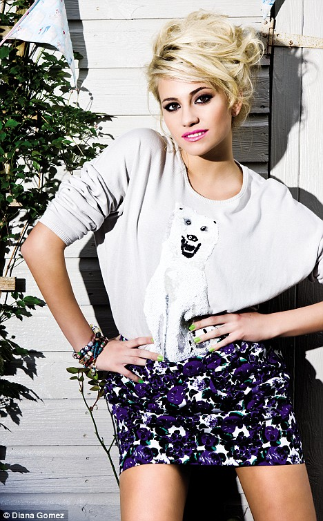 pixie lott hair. In this image of Pixie Lott,