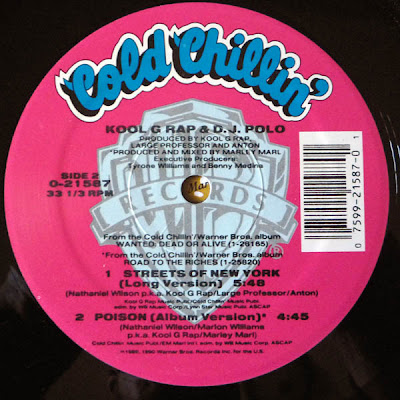 "Kool G Rap & DJ Polo – Streets Of New York – 12"" – 1990"