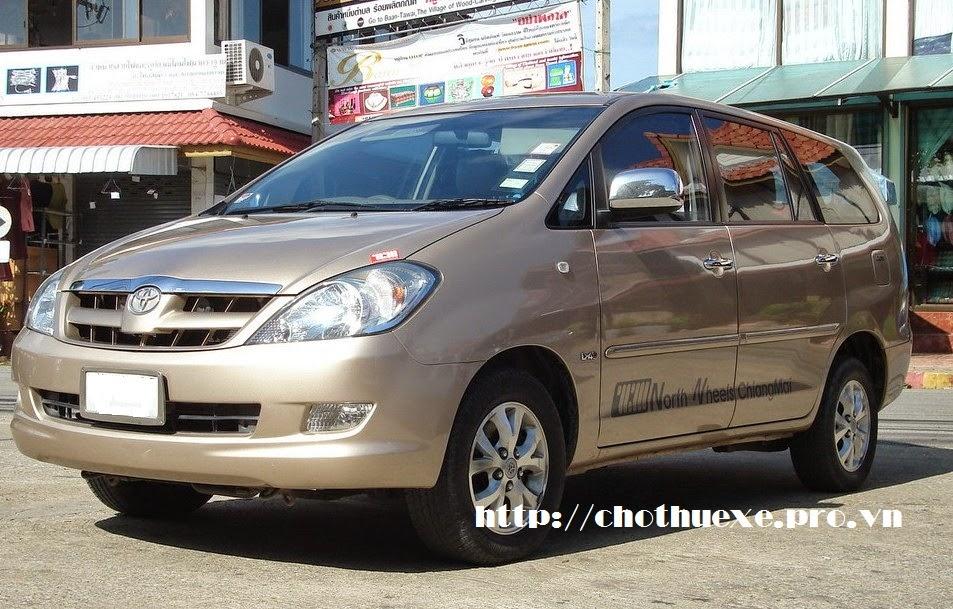 Cho thuê xe Toyota Innova G dài hạn