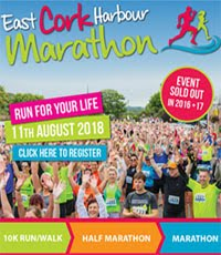 East Cork Harbour Marathon, Half-Marathon & 10k...Sat 11th Aug 2018