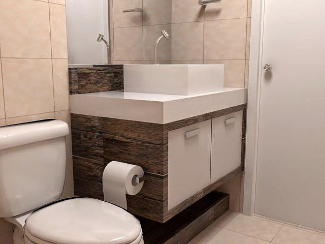 Blog da Fenix Decorando ideias para banheiros pequenos -> Banheiro Pequeno Moderno