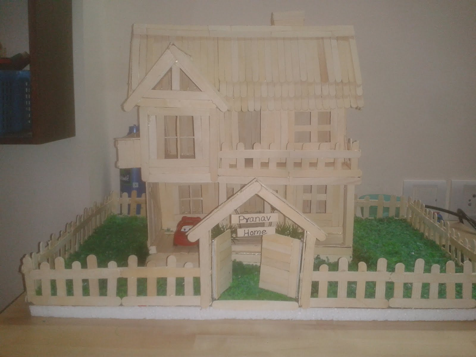 Priya 39 s crafty world how to make a model house with ice for Projects house