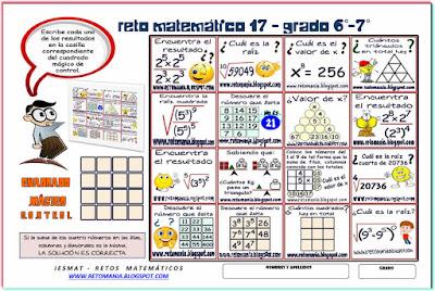 Retos matemáticos, Desafíos matemáticos, Problemas matemáticos, Acertijos, Acertijos matemáticos, Problemas de lógica, Problemas para pensar, Descubre el número, Cuál es el número que falta, Descubre el número que falta, Cuántos triángulos hay, Cuántos cuadrados hay, Cuadrados Mágicos