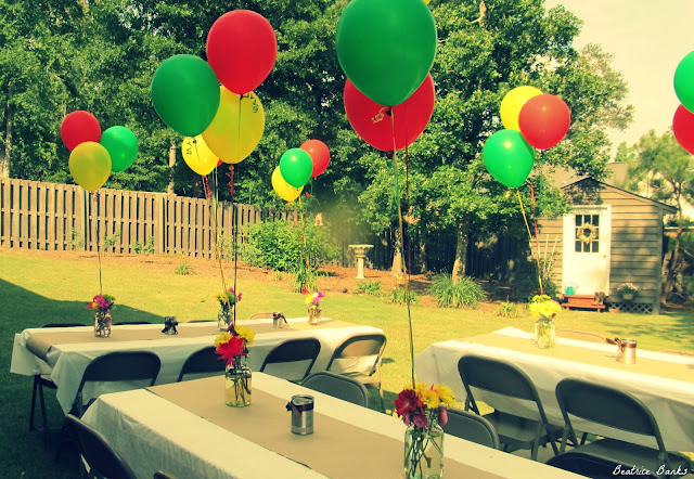 Beatrice banks backyard party for Backyard party decoration ideas