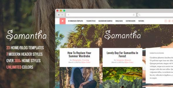 Samantha - A Responsive WordPress Blog Theme