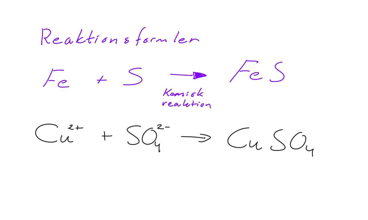 Kemisk reaktion och atomens uppbyggnad