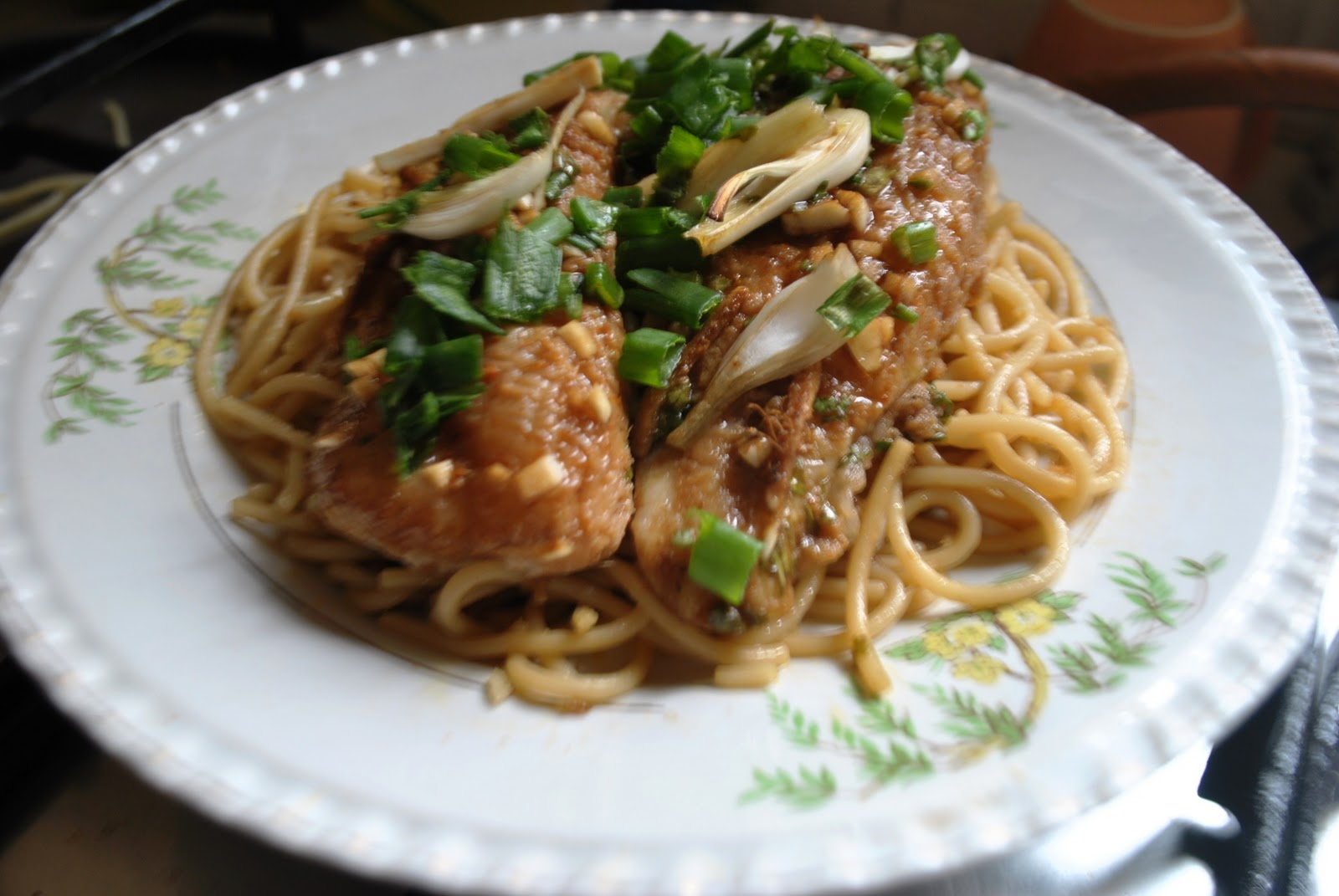 Asian noodles baked