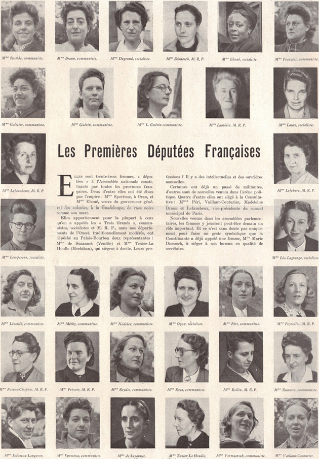 Premières députées françaises