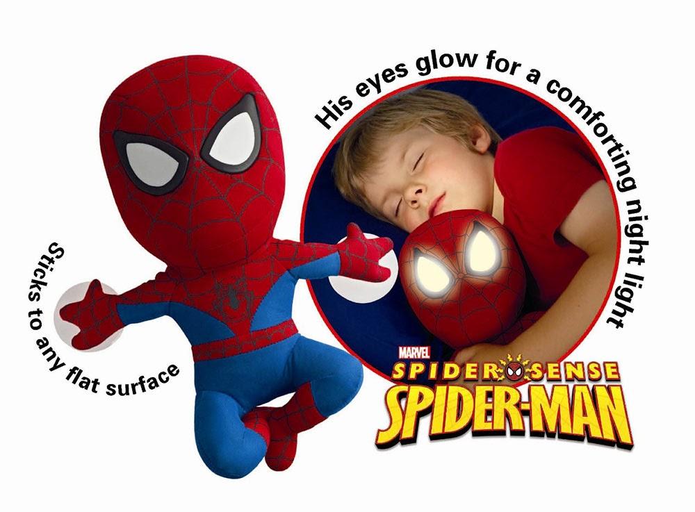 Peluche Spiderman con ventosa y luz
