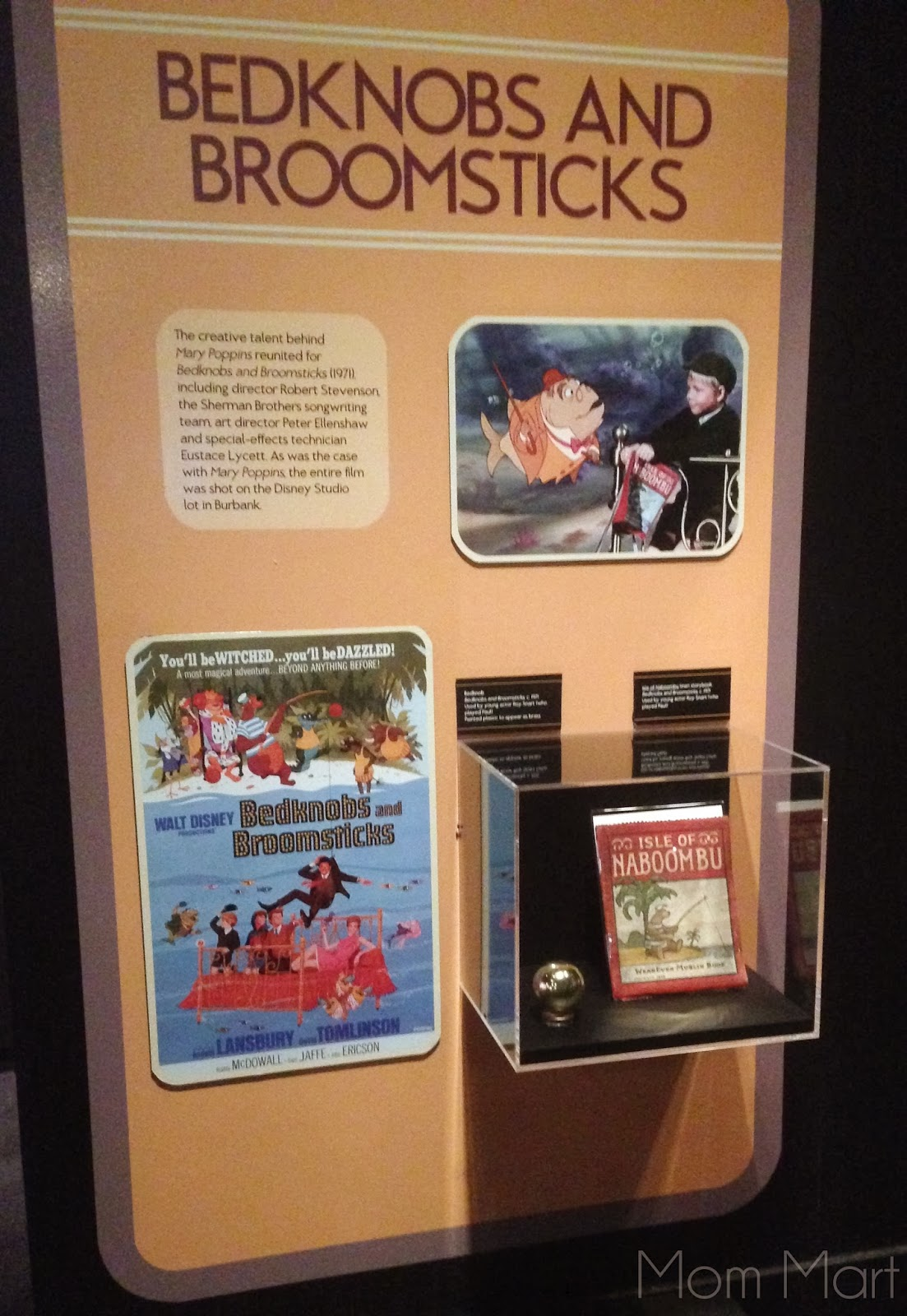 Disney Exhibit at MOSI Treasures of the Walt Disney Archives  #BedknobsAndBroomsticks