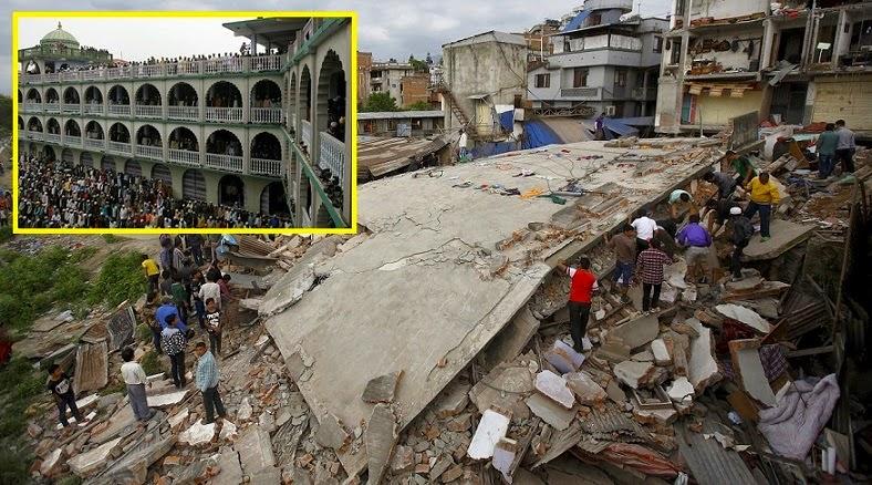 SubhanAllah Masjid Tidak Runtuh Akibat Gempa Bumi Kuat Nepal