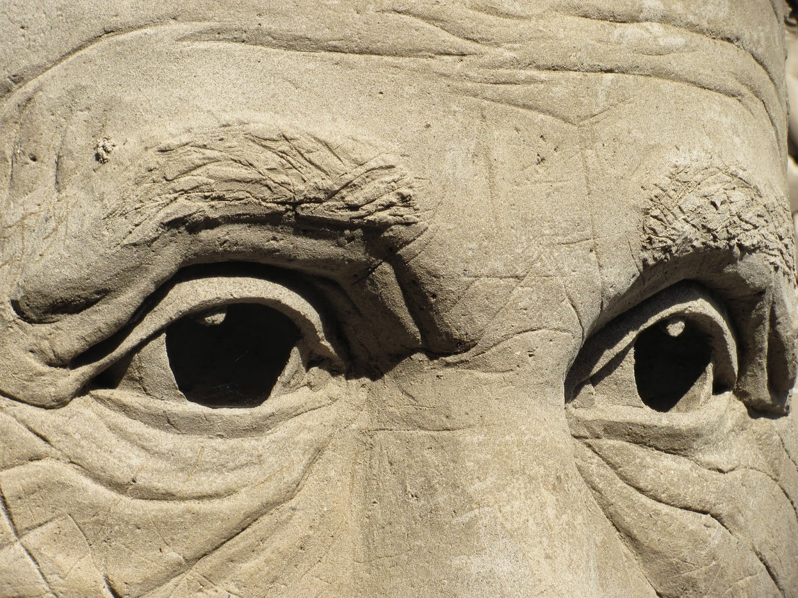 Detailed Eyes Closeup Dublin Castle Sand Sculptures 2014