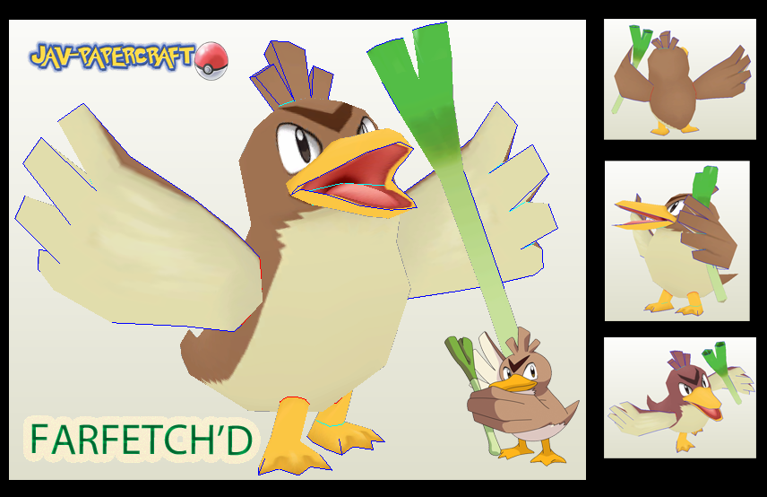 Pokemon Farfetch'd Papercraft