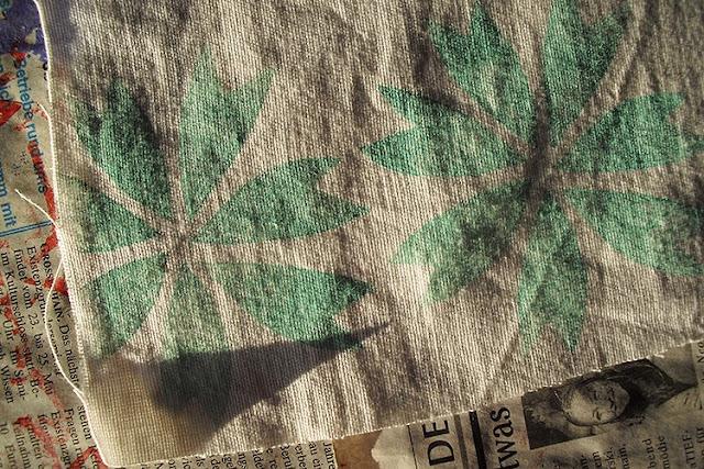 hand printet fabric by frauschoenert