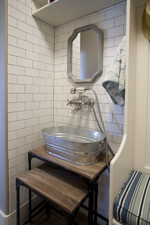 Heres Another Using Nesting Tables As The Wash Stand I Like Idea Of Having Flat Surface To Sit Things On