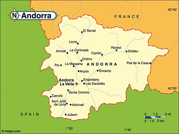 Where Is Andorra Map - Where is andorra