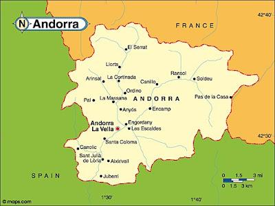 Mapa da Andorra Política Regional