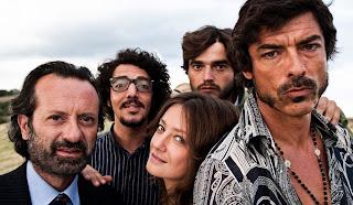 Rocco Papaleo, Max Gazzè, Giovanna Mezzogiorno et Paolo Briguglia et Alessandro Gassman dans Basilicata Coast to Coast