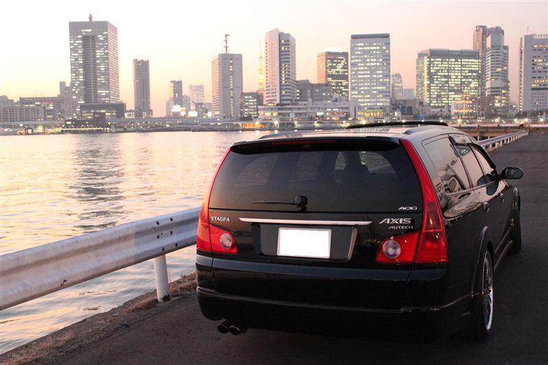 Nissan Stagea M35, sportowe japońskie kombi, silnik R6, turbo, napęd na cztery koła, wagon, JDM