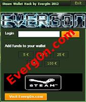 steam wallet hack adder , cheat , generator ,free
