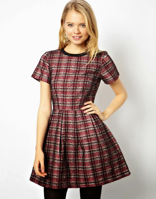 red check dress asos