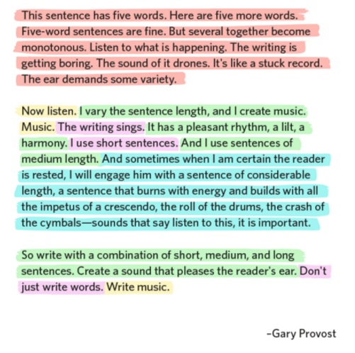 Writing as Music