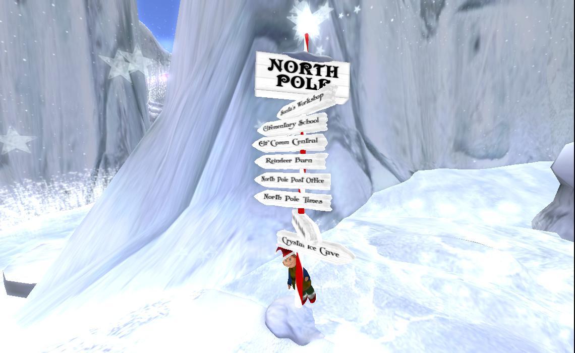 Santa North Pole Map 2013 see: north pole and