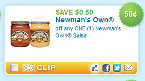 Save on Newman's Own Salsa