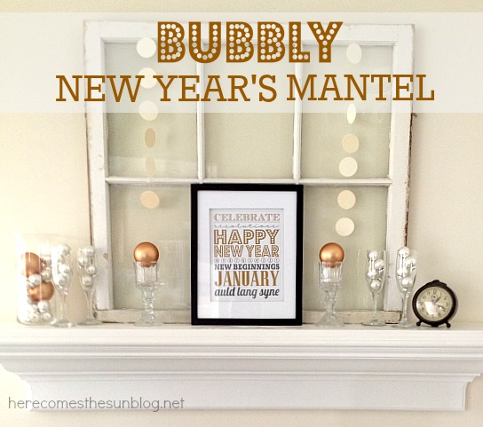Bubbly New Year's Mantel